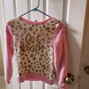Justice | Girls Size 10 Cat Nap Pajama Set A39